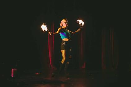 Fire Halloween Burlesque
